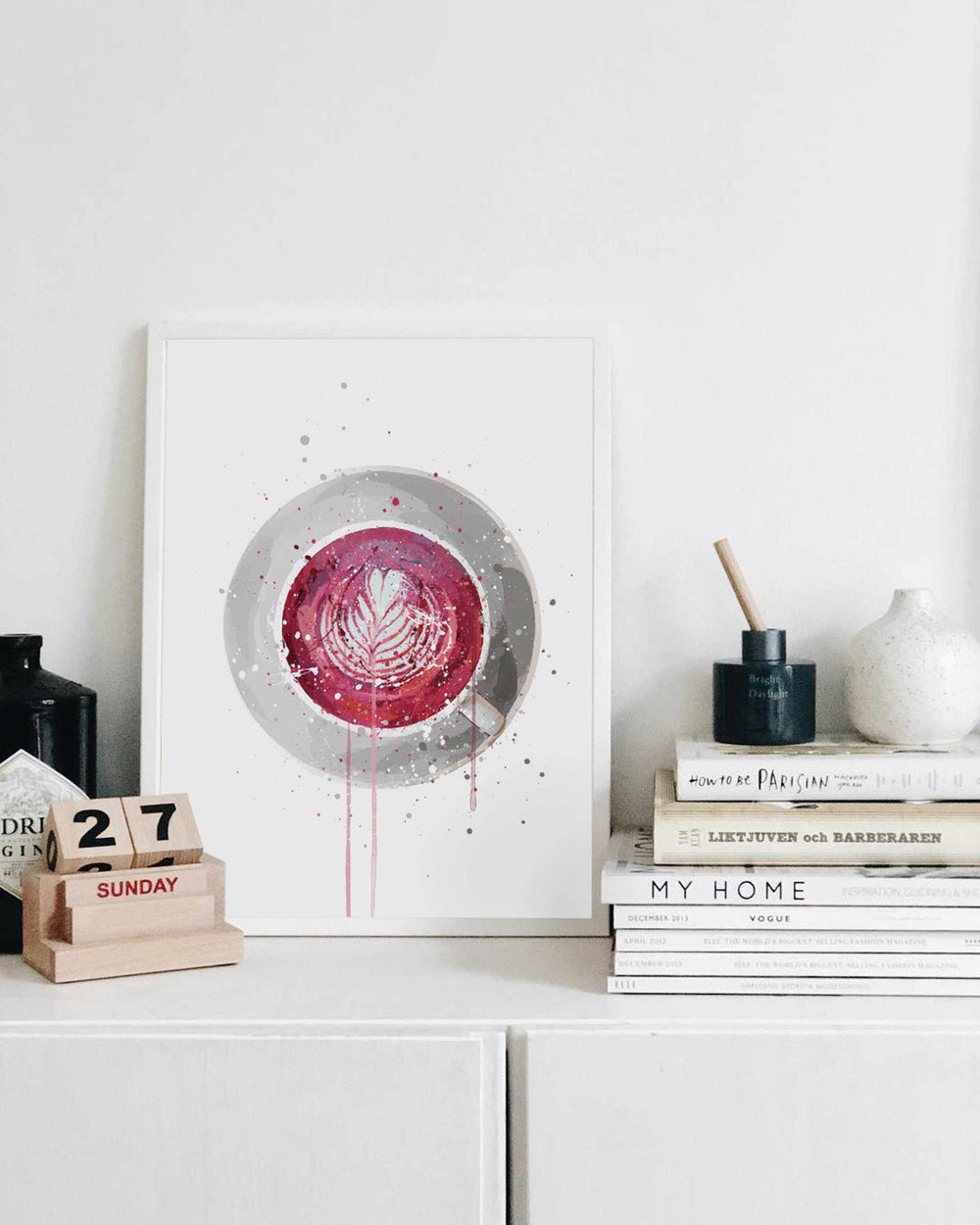 Tea Wall Art Print 'Beetroot Latte'