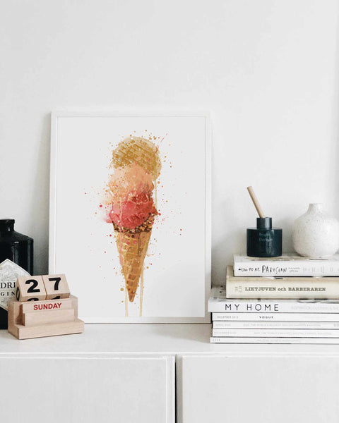 Ice Cream Wall Art Print 'Gelato'