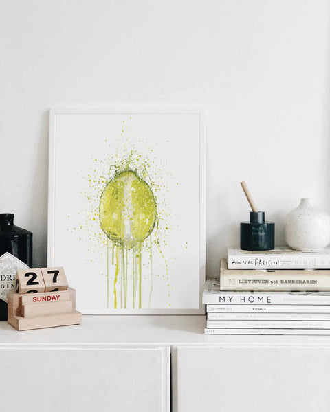 Lime Fruit Wall Art Print