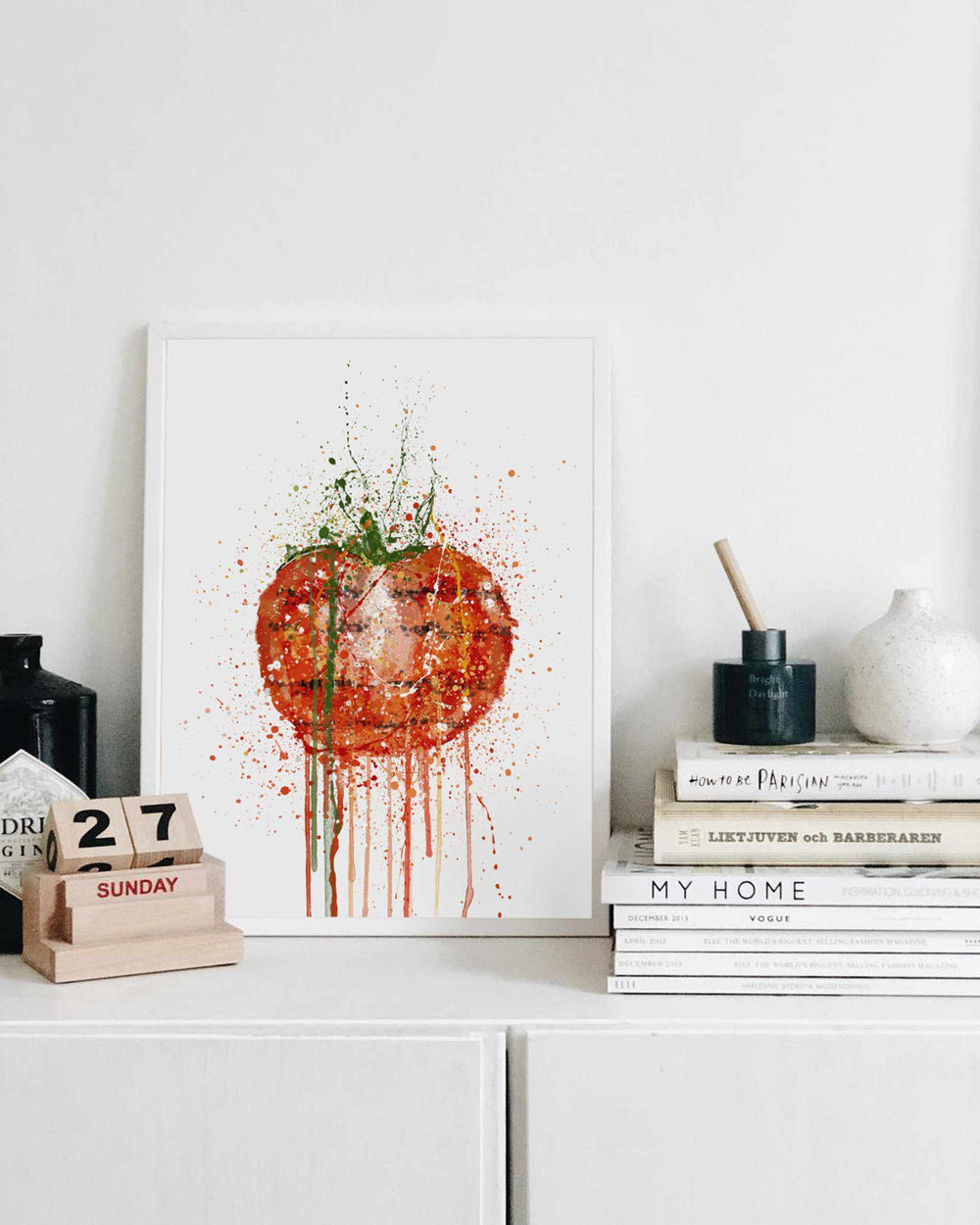 Grilled Tomato Wall Art Print