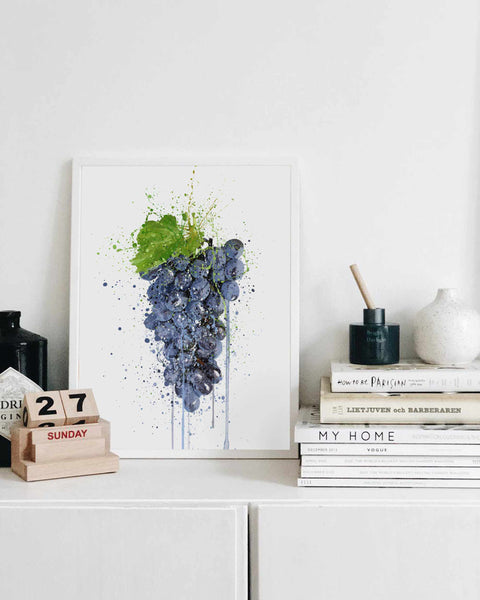 Purple Grape Fruit Wall Art Print