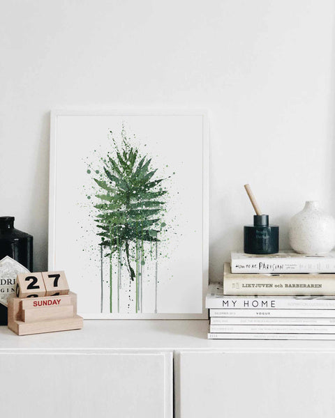 Palm Leaf Wall Art Print