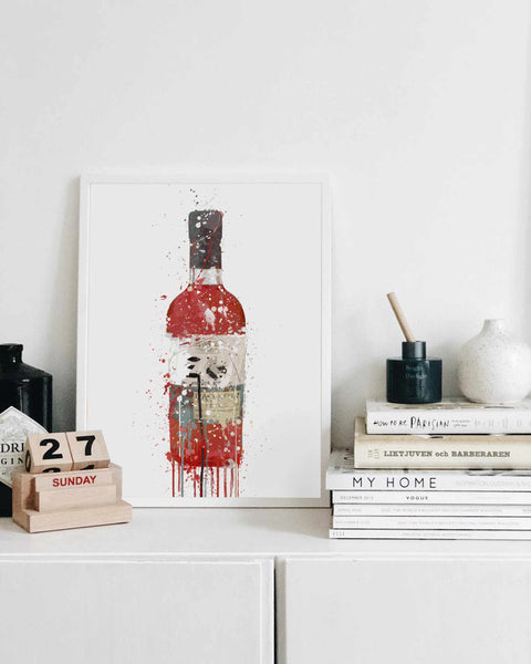 Gin Bottle Wall Art Print 'Berry'-We Love Prints