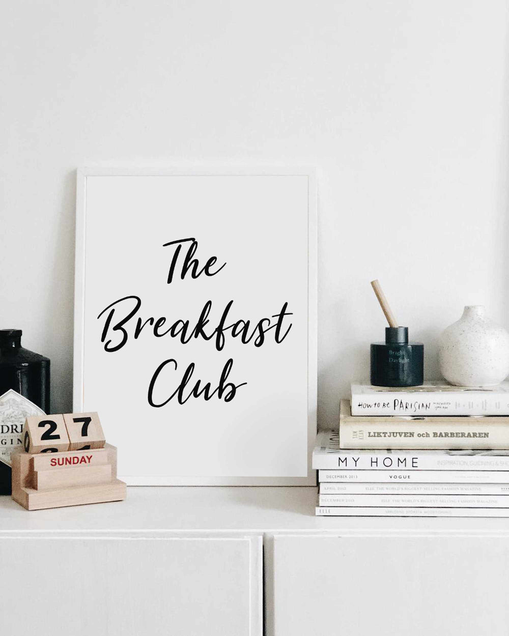 Typographic Wall Art Print 'The Breakfast Club'