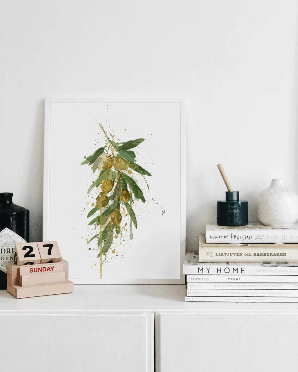 Olive Branch Wall Art Print