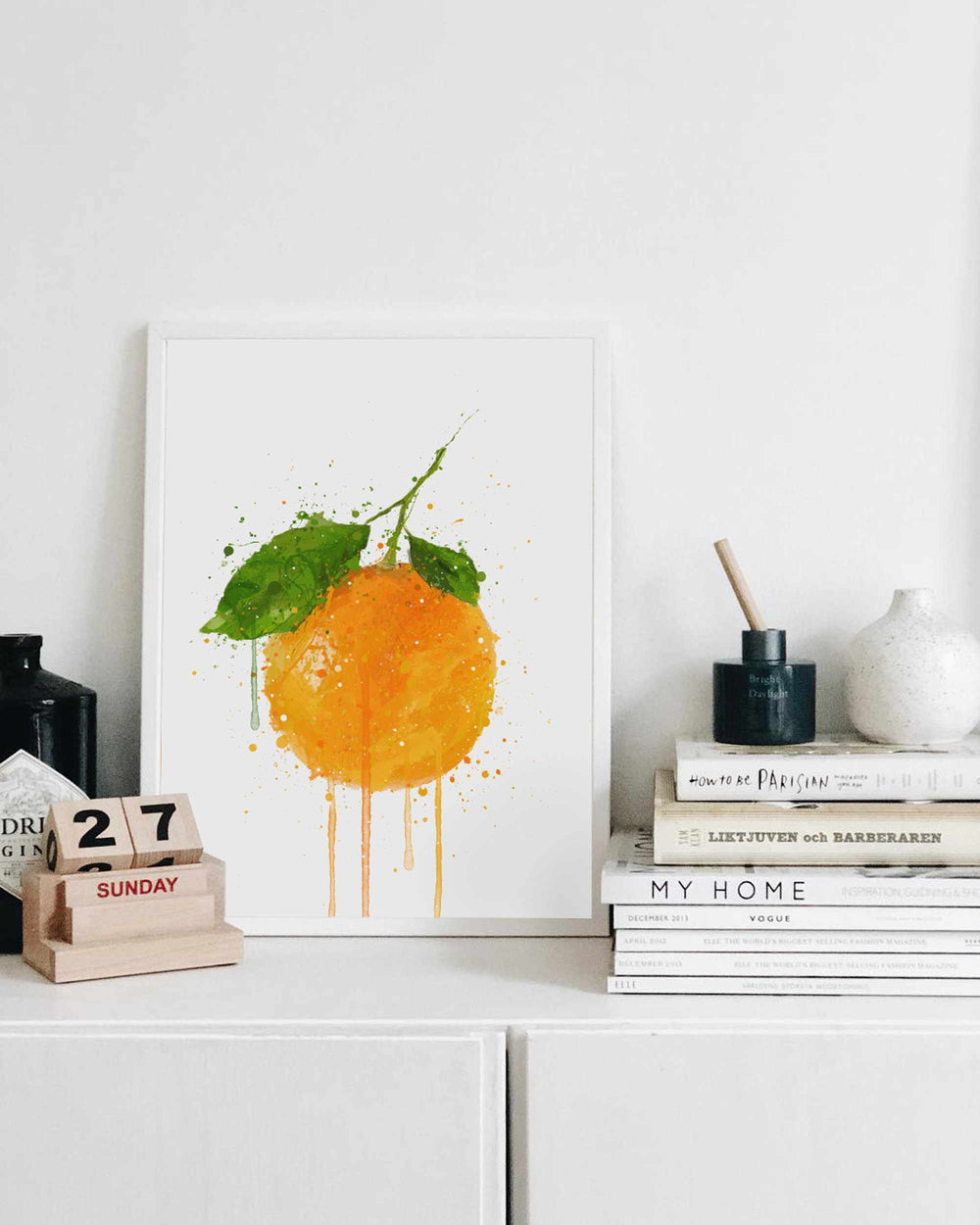 Whole Orange Fruit Wall Art Print