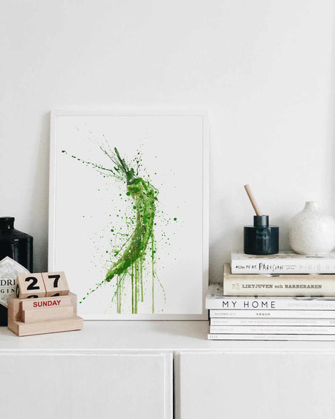 Green Chilli Vegetable Wall Art Print