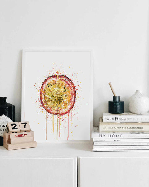 Passionfruit Fruit Wall Art Print