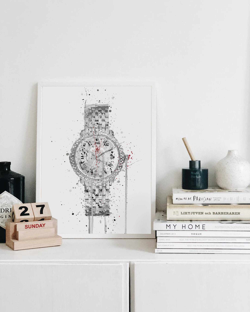 Wrist Watch Wall Art Print 'Grey Skies'