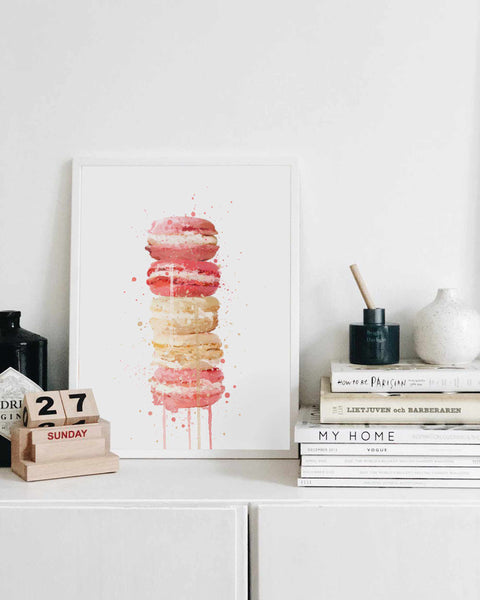 Patisserie Wall Art Print 'Macaron Stack'