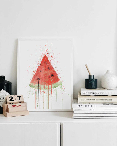 Watermelon Fruit Wall Art Print