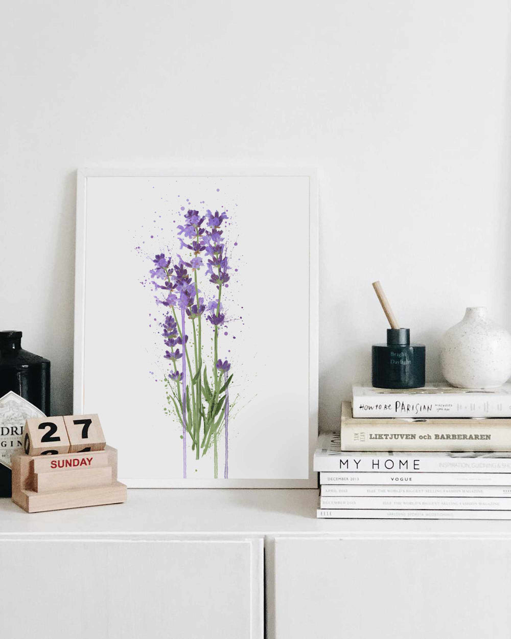 Flower Wall Art Print 'Lavender'