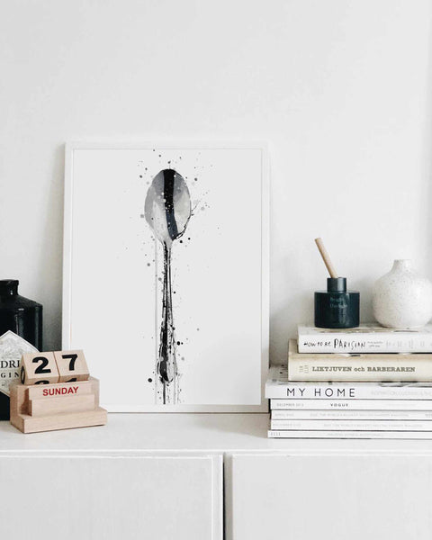Kitchen Utensil Wall Art Print 'Teaspoon'