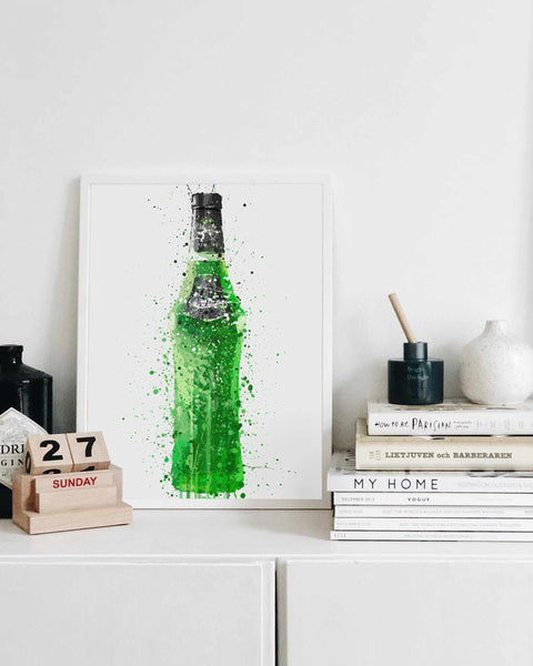 Liquor Bottle Wall Art Print 'Melon'-We Love Prints