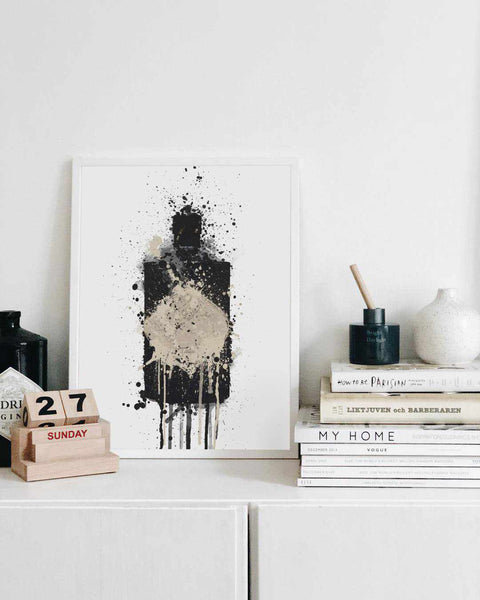 Gin Bottle Wall Art Print 'Onyx'-We Love Prints