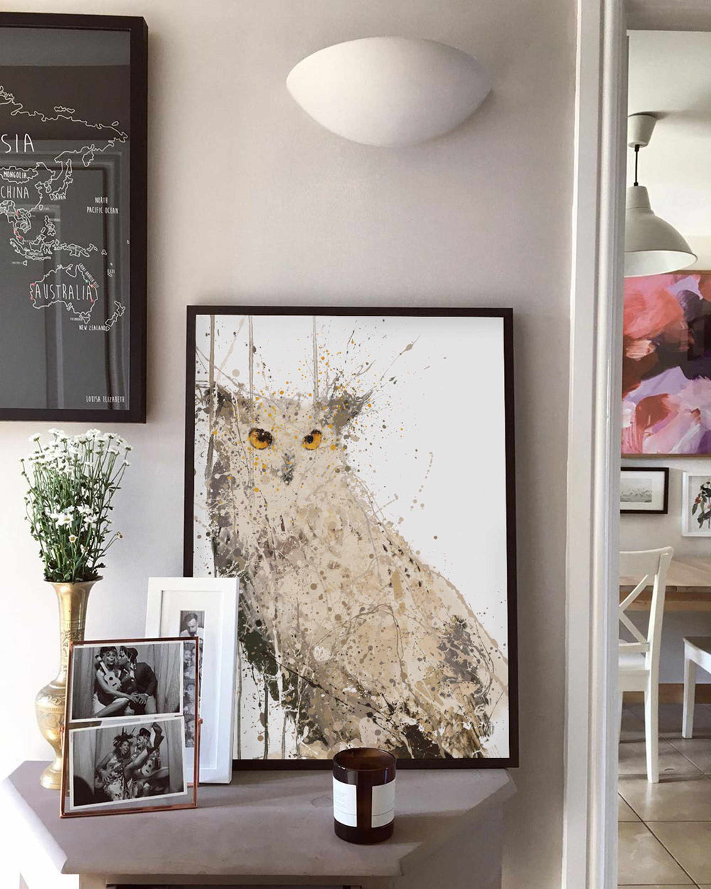 Eagle Owl Wall Art Print