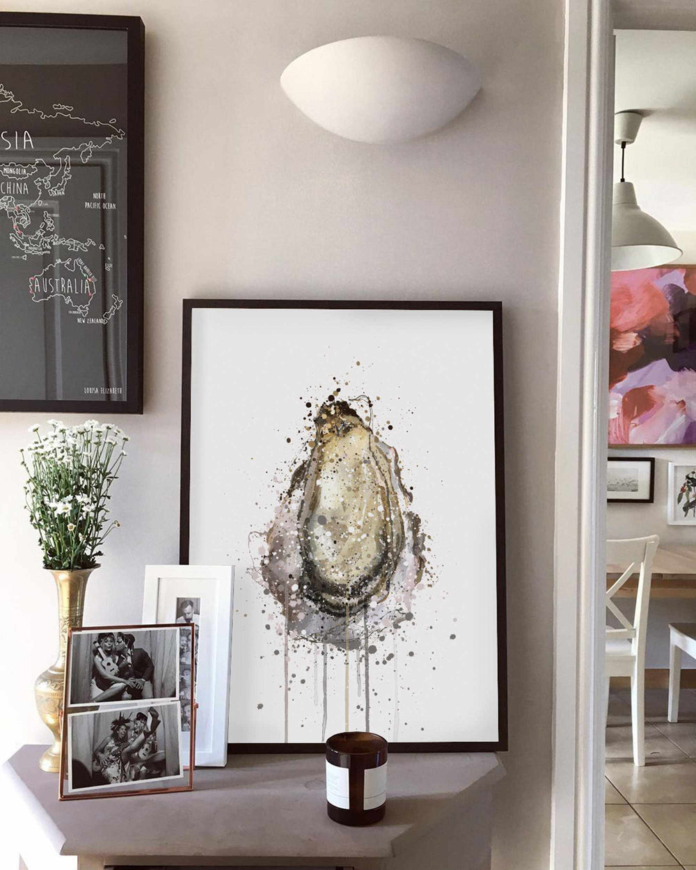 Seafood Wall Art Print 'Oyster'