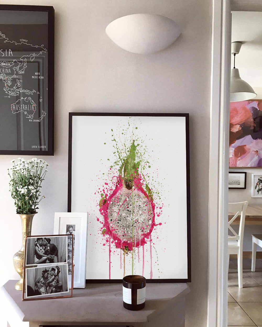 Dragon Fruit Wall Art Print