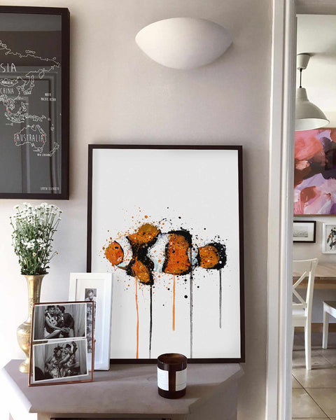 Sea Creature Wall Art Print 'Clownfish'