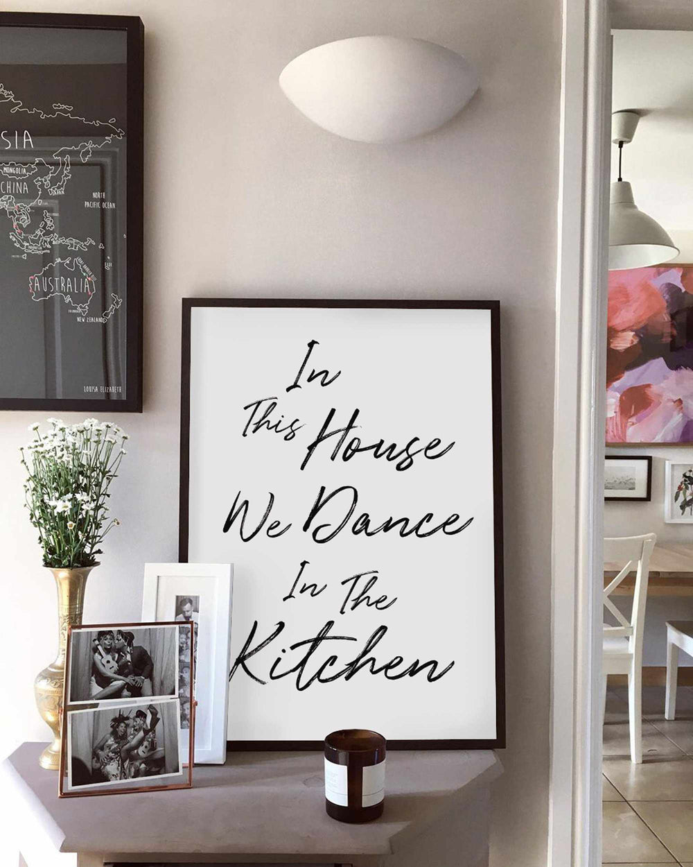 Typographic Wall Art Print 'In This House We Dance 2.0'