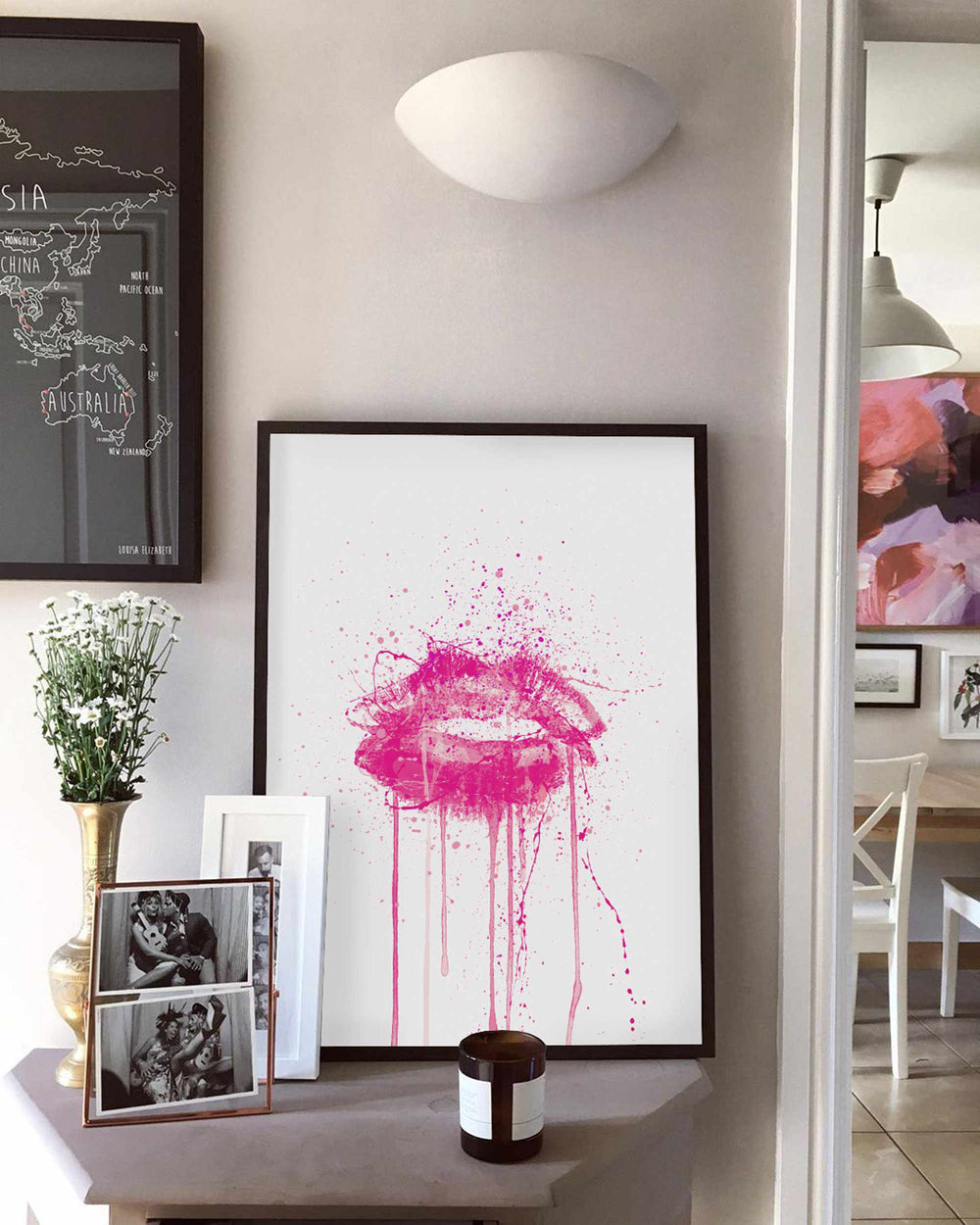 'Candy Yum Yum' Lips Wall Art Print