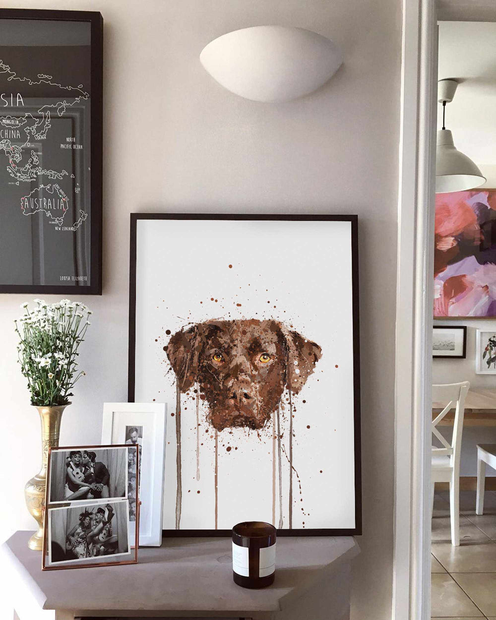 Chocolate Labrador Wall Art Print