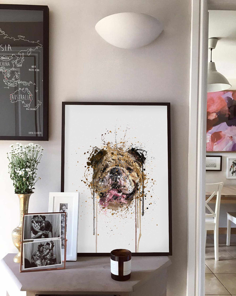 English Bulldog Wall Art Print