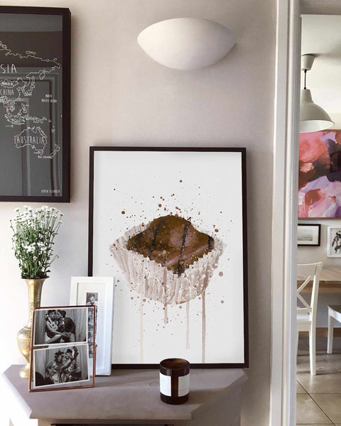 Cake Wall Art Print 'French Fancie Chocolate'