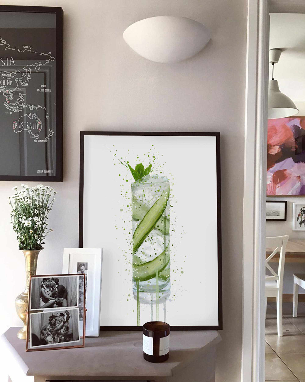 Gin and Tonic Wall Art Print 'Tall 2.0'