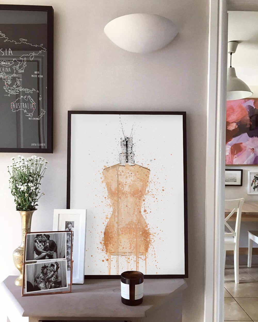 Fragrance Bottle Wall Art Print 'Venus'