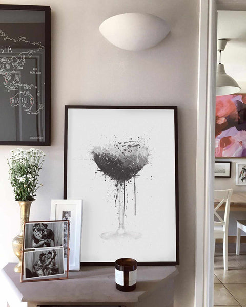 Espresso Martini Cocktail Wall Art Print (Grey Edition)