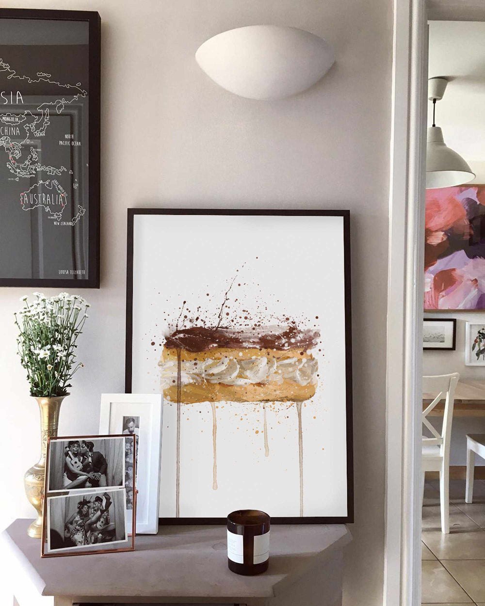 Patisserie Wall Art Print 'Chocolate Eclair'