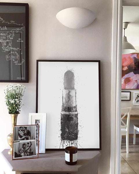 Lipstick Wall Art Print (Grey Edition)