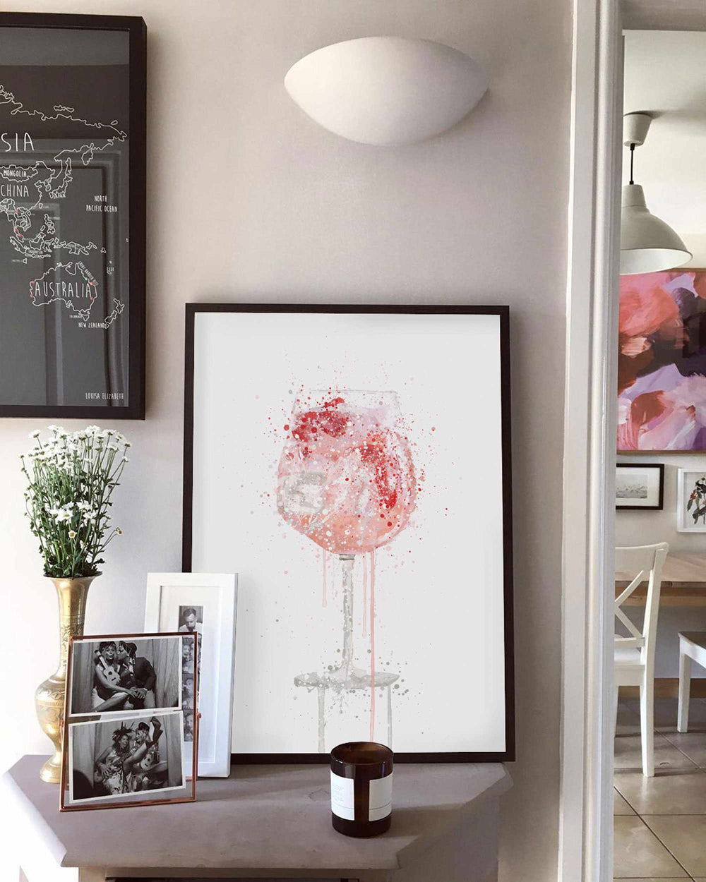 Pink Gin and Tonic 'Goblet' Wall Art Print-We Love Prints