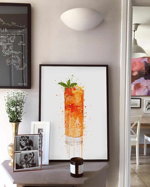 Summer Punch Cocktail Wall Art Print