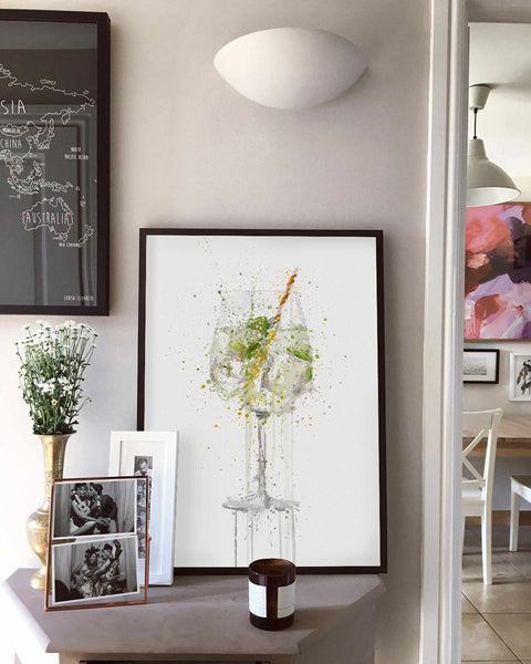 Gin and Tonic 'Goblet' Wall Art Print-We Love Prints