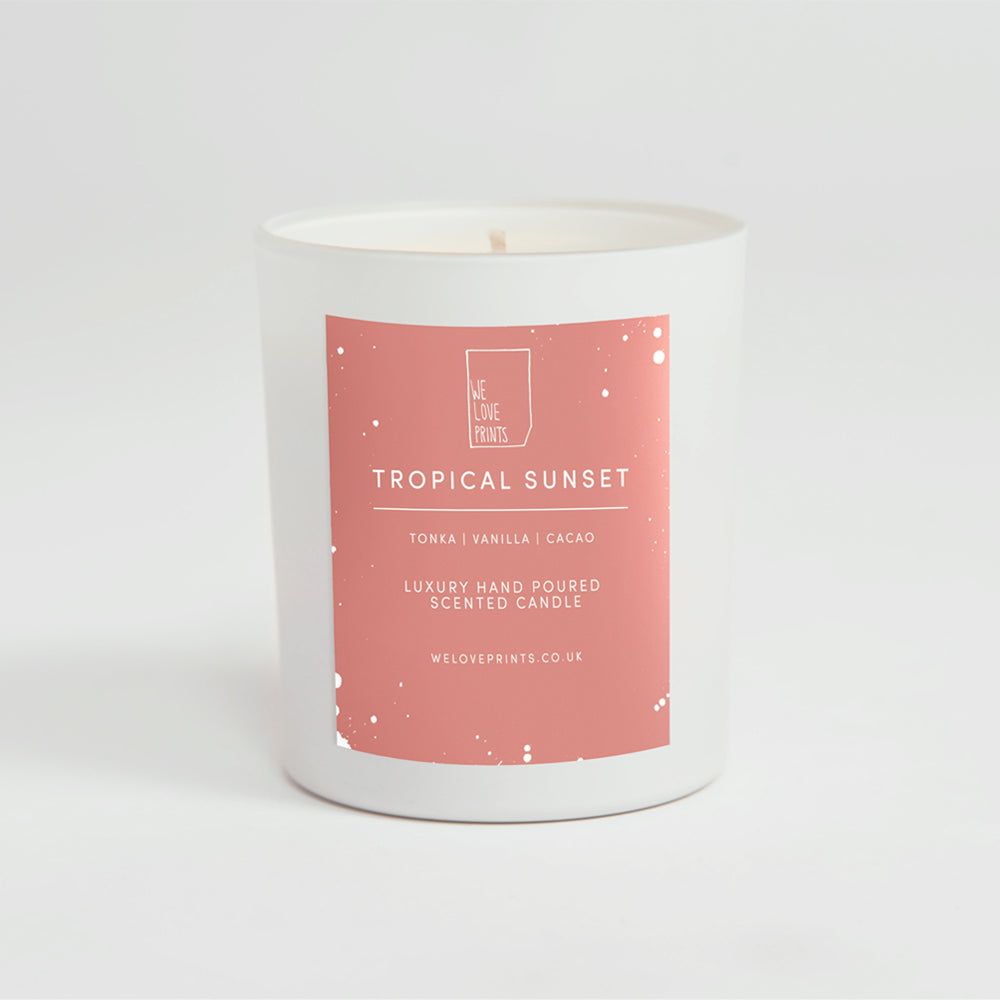 Luxury Hand-Poured Candle 'Tropical Sunset'