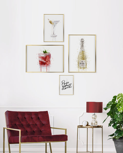 VIP Bar Gallery Wall Set