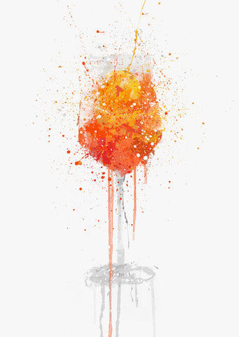 Aperol Spritz Cocktail Wall Art Print-We Love Prints