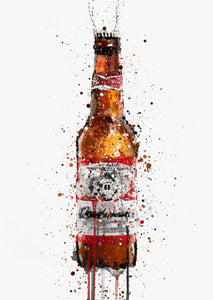 Beer Bottle Wall Art Print 'Amber'-We Love Prints