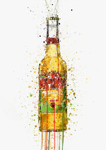 Beer Bottle Wall Art Print 'Aztec Gold'-We Love Prints