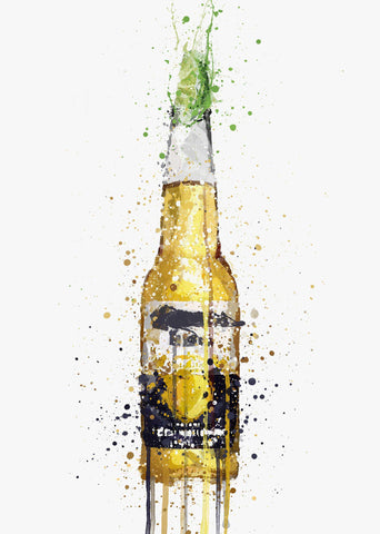 Beer Bottle Wall Art Print 'Lime'-We Love Prints