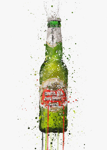 Beer Bottle Wall Art Print 'Peridot'-We Love Prints