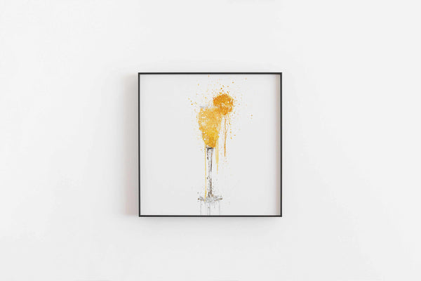 Bucks Fizz Cocktail Wall Art Print-We Love Prints