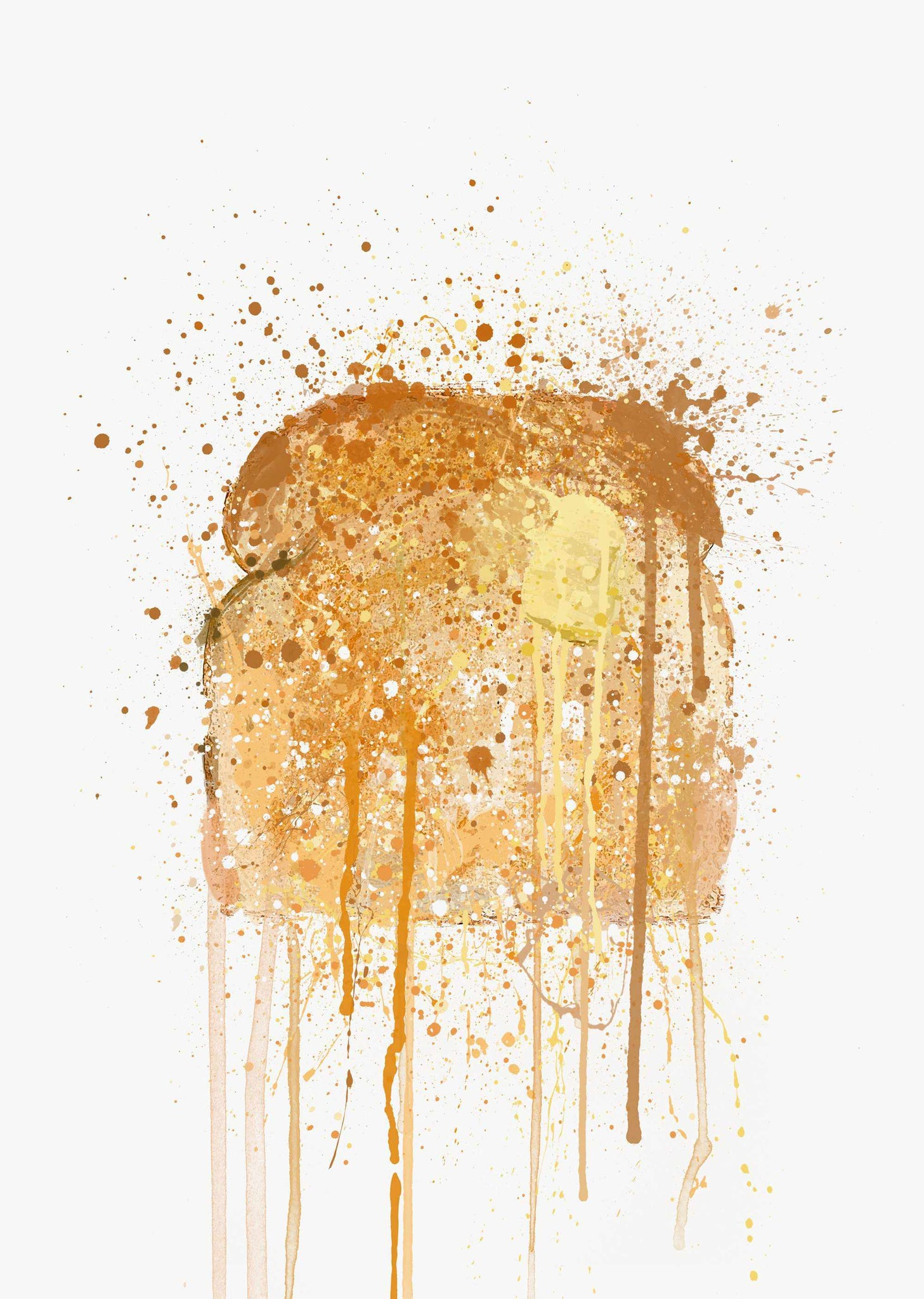 Buttered Toast Wall Art Print-We Love Prints