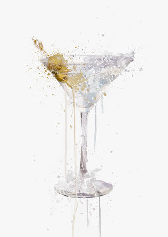 Dry Martini Cocktail Wall Art Print-We Love Prints