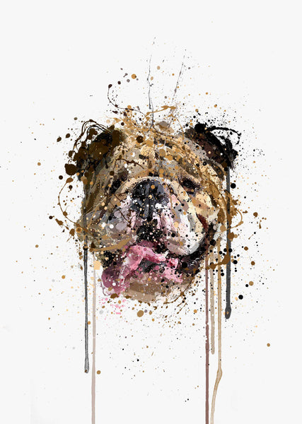 English Bulldog Wall Art Print-We Love Prints