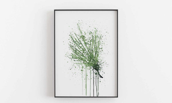 Fan Leaf Wall Art Print-We Love Prints
