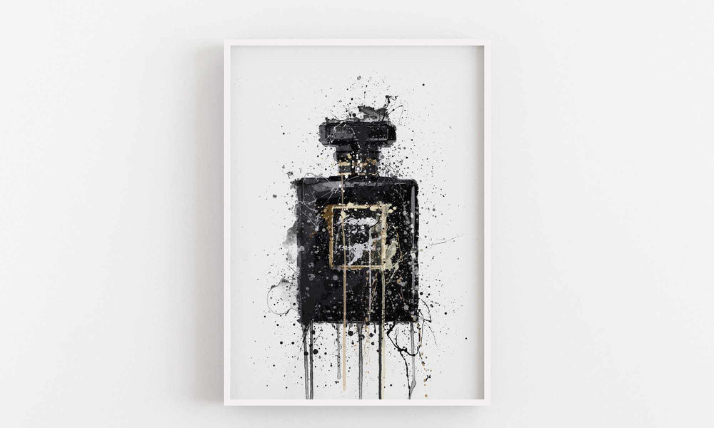 Fragrance Bottle Wall Art Print 'Midnight Black'-We Love Prints