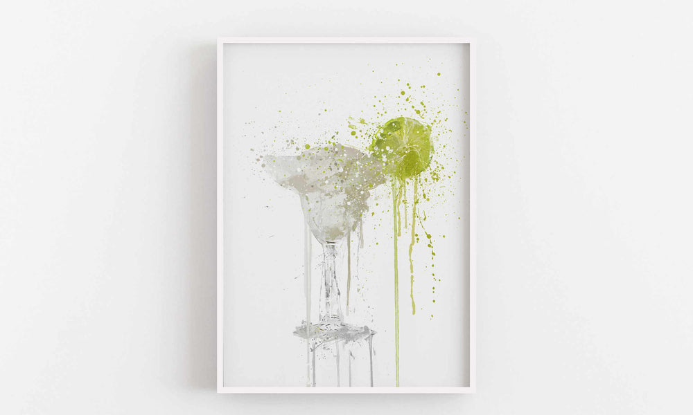 Frozen Margarita Cocktail Wall Art Print-We Love Prints